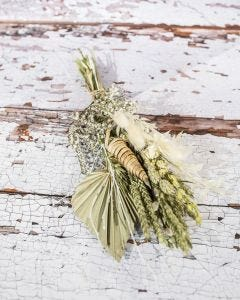 Bunch of Dried Flowers in Neutral Colours