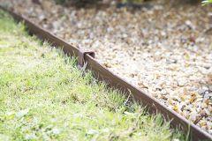 12m Flexible Garden Edging - Brown