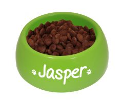 Personalised Green Feeding Bowl