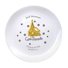 Personalised Church Godparents 8″ Bone China Coupe Plate
