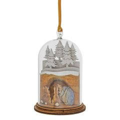 Mrs. Rabbit in Burrow Wooden Hanging Ornament