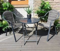 Ariana Stacking Bistro Set with Folding Table