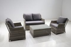 Levante 4pc Lounge Set (2 Seat Sofa, 2 Armchairs, Coffee Table)