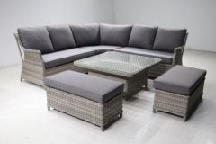 Levante Corner Lounge Set with Adjutable Height Table