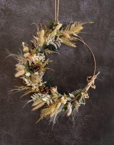 Autumn & Winter Natural Dried Flower Hoop