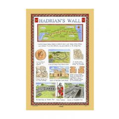 Hadrian's Wall Tea Towel