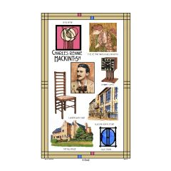 Rennie Mackintosh Tea Towel