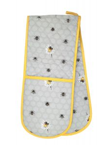 Bee Happy Double Oven Glove