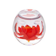 Caithness Glass - Bijoux Red Lily Paperweight