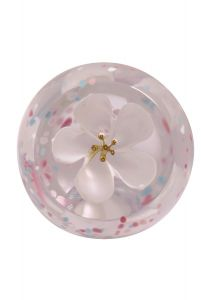 Caithness Glass - Ivory Blossom Paperweight