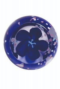 Caithness Glass - Sapphire Blossom Paperweight