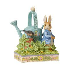 Caught in Mr. McGregor's Garden Peter Rabbit Figurine