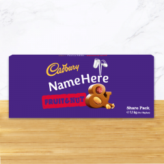 Personalised Cadbury Fruit & Nut Share Pack