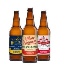 Christmas 3 Pack of Personalised Beer