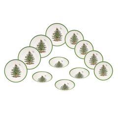 Christmas Tree 12 Piece Dinner Set