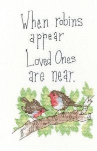 Counted Cross Stitch Kit: Peter Underhill Robins