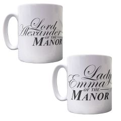 Personalised Lord & Lady of the Manor Mugs