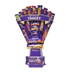 Personalised Cadbury Mixed Chocolate Bouquet