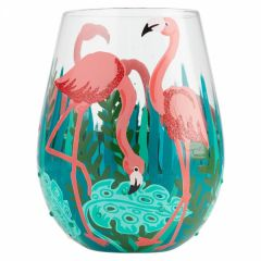 Fancy Flamingo Glass