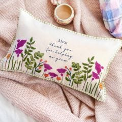 Personalised Felt Floral Cushion