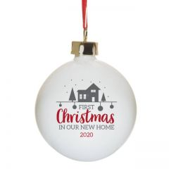 First Christmas In Our New Home Bauble