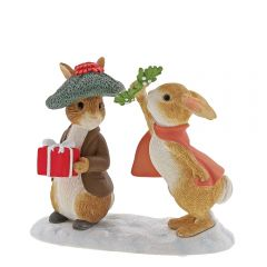 Flopsy™ & Benjamin Bunny™ Under the Mistletoe Figurine