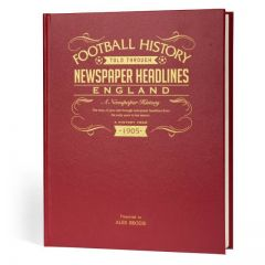 Personalised A3 Football Newspaper Book - England