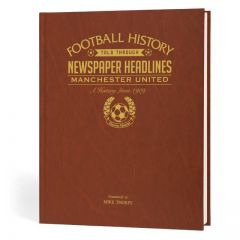 Personalised Manchester United Newspaper Book