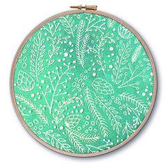 Frosty Foliage Embroidery Kit