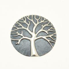 Grey Tree of Life Magnetic Brooch