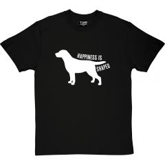 Happiness is Dog Shaped T-Shirt