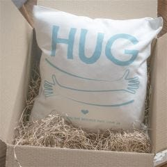 Personalised Hug By Post Cushion