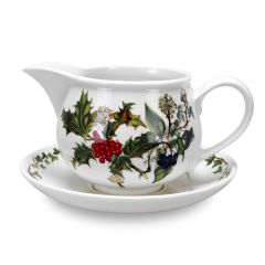 The Holly & The Ivy Gravy Boat & Stand