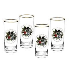 The Holly and The Ivy Hiball Glass Set of 4