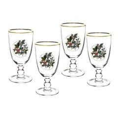 The Holly and The Ivy Goblet Set of 4