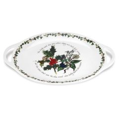 The Holly and The Ivy Oval Handled Platter