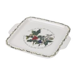The Holly & The Ivy Square Handle Cake Plate