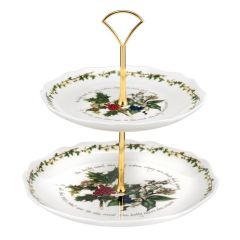 The Holly & The Ivy 2-Tier Cake Stand
