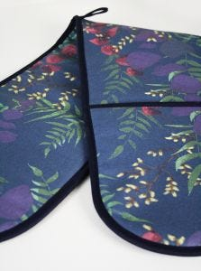 Wild Florals Navy Double Oven Glove