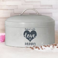 Personalised Made With Love Cake Tin