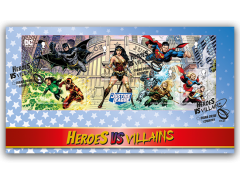 Justice League Miniature Sheet First Day Cover