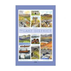 Lake District Tea Towel