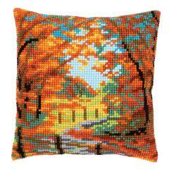 Cross Stitch Cushion Kit: Autumn Landscape
