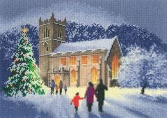 Christmas Church Counted - Cross-Stitch Kit
