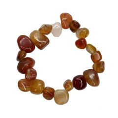 Red Agate Elasticated Pear Shaped Bead Bracelet