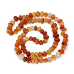 Red Agate 22 Inch Claspless Round Bead Necklace
