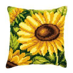 Cross Stitch Cushion Kit: Sunflowers