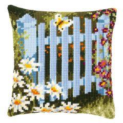 Cross Stitch Cushion Kit: Garden Gate