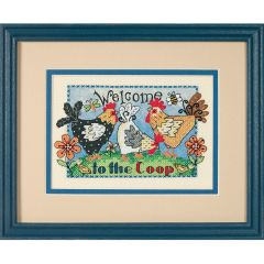 Welcome To The Coop Pre-Printed Cross Stitch Kit