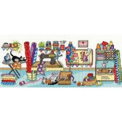 Sewing Fun Counted Cross Stitch Kit by Julia Rigby